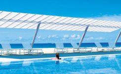 Parasol ogrodowy Flexy Zen na 2. podstawach