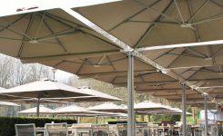 Belgijskie parasole ogrodowe Prostor PR6 4-czaszowe.